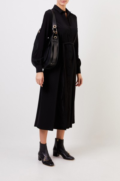 Co Shirt blouse dress with belt Black
