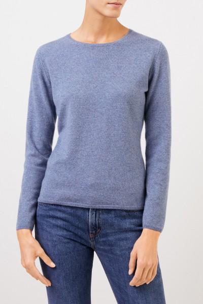 Uzwei Cashmere-Pullover mit R-Neck Denimblau