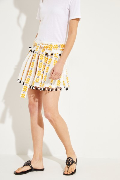 Mini skirt 'Ariana' with embroidery White/Multi