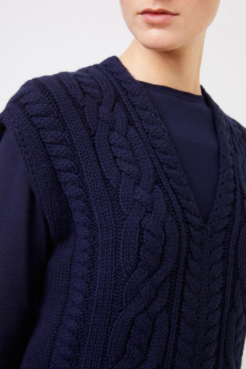 Cashmere-Pullunder 'Fahda' Marineblau