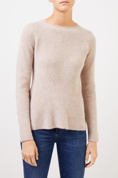 Uzwei Cashmere-Pullover mit Strickdetail Beige