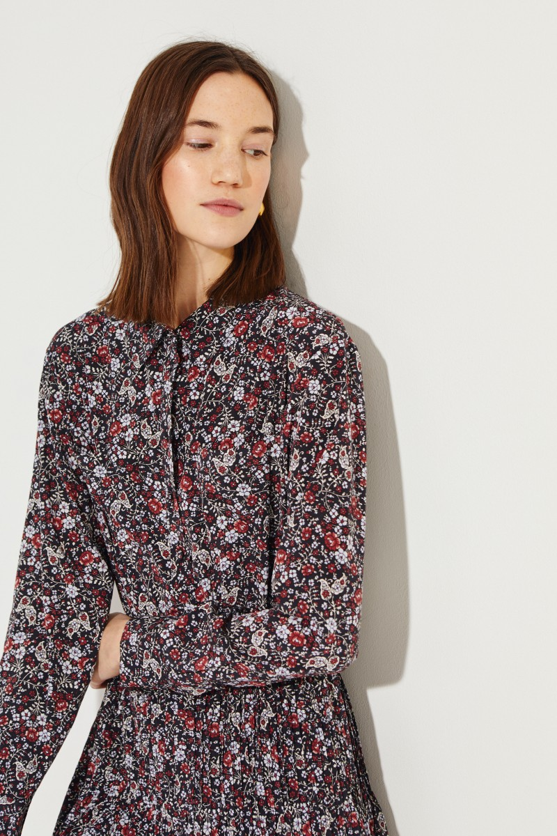 Seiden-Hemdblusenkleid 'Rory' mit Print Multi