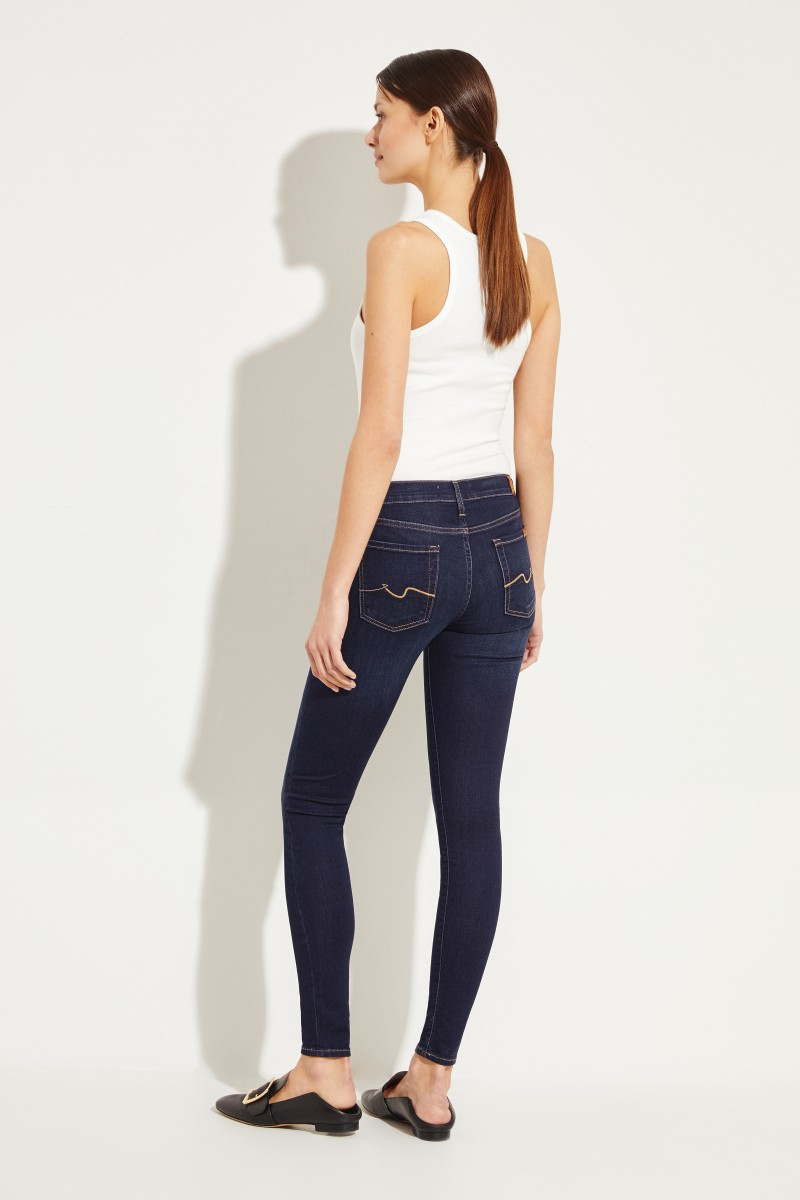 7 for all mankind Jeans 'The Skinny' Dunkelblau