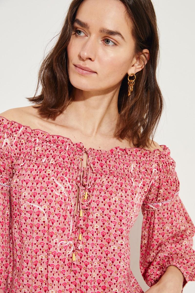 Jumpsuit 'Clara' mit floralem Print Rot/Multi