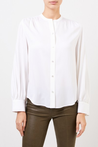 Vince Silk blouse with round-neck White