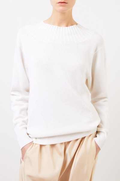 Chloé Cashmere pullover with bow detail navy blue