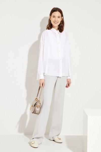 Seiden-Bluse Weiß