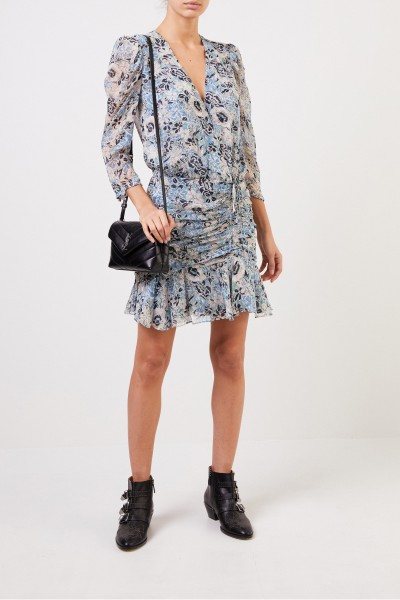 Veronica Beard Patterned silk dress 'Maggie' Multi