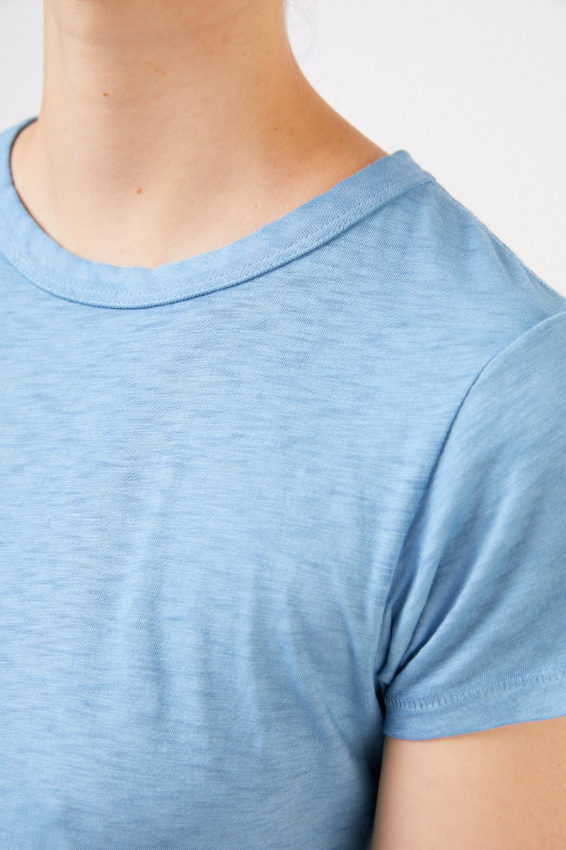 Baumwoll-Shirt 'The Tee' Hellblau