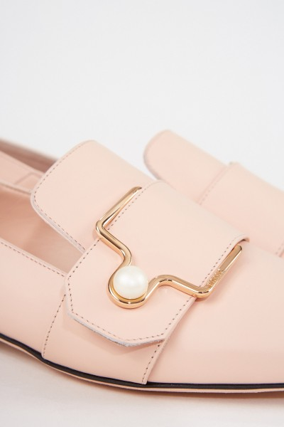 Bally Leather Loafer 'Maelle' with buckle Light Pink