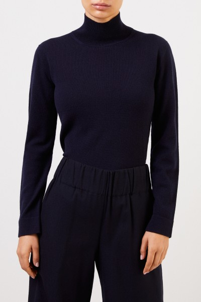 Agnona Cashmere-Pullover mit Turtleneck Marineblau