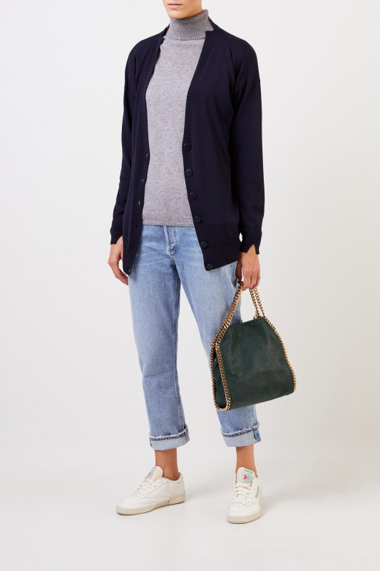 Stella McCartney Woll-Cardigan Marineblau