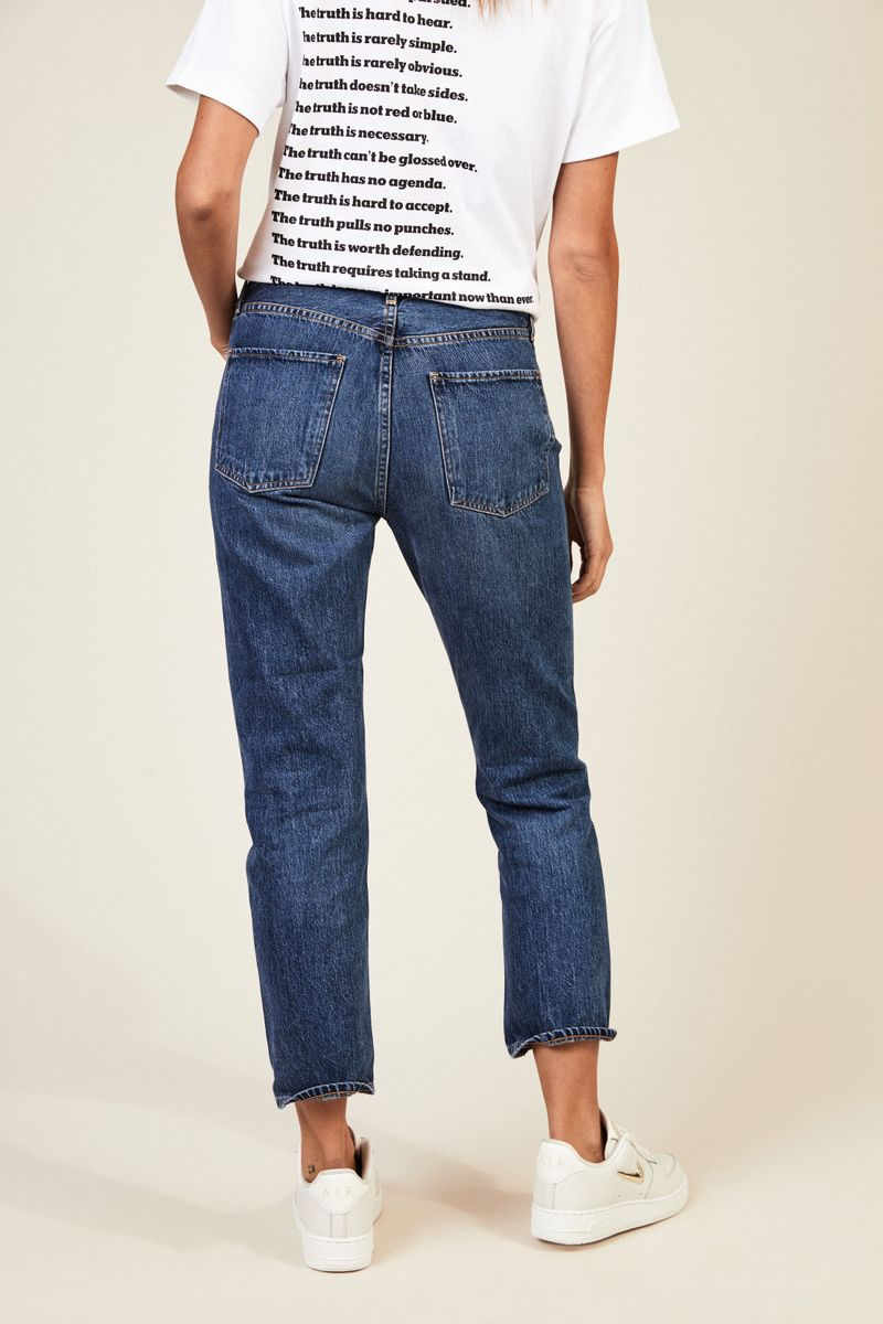 High Rise Jeans 'Cigarette' Blau