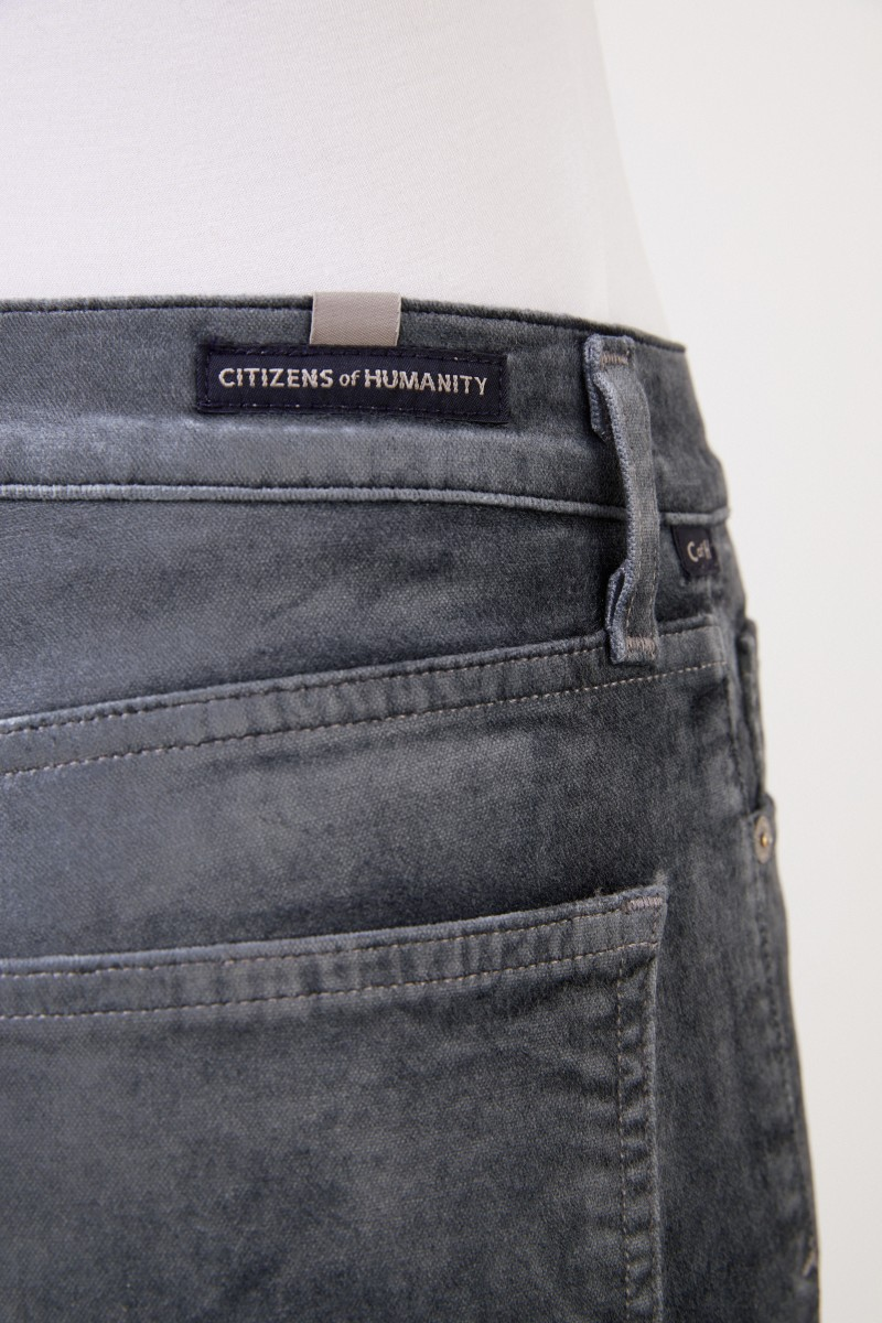 Citizens of Humanity Highrise Samt-Hose 'Harlow' Salbei