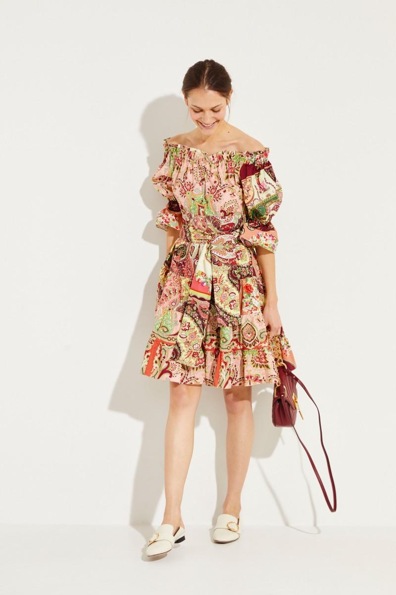 Gemustertes Kleid Multi
