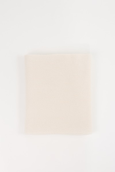 Uzwei Wool cashmere scarf White
