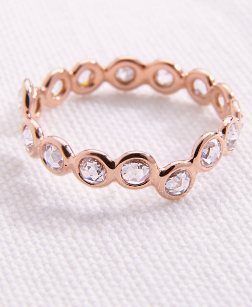 Lito Ring 'Cardio 16' with diamonds 18-carat pink gold