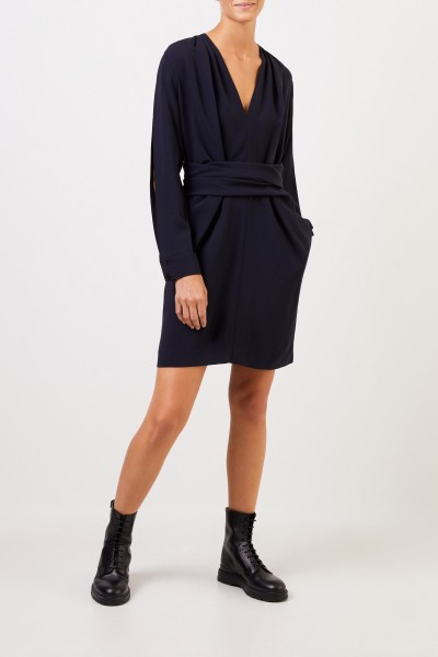 Stella McCartney Kleid 'Cady' mit Bindedetail Marineblau