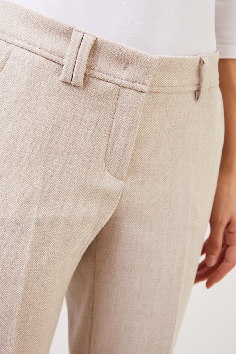 Seductive Bügelfaltenhose 'Allison' Beige Melange