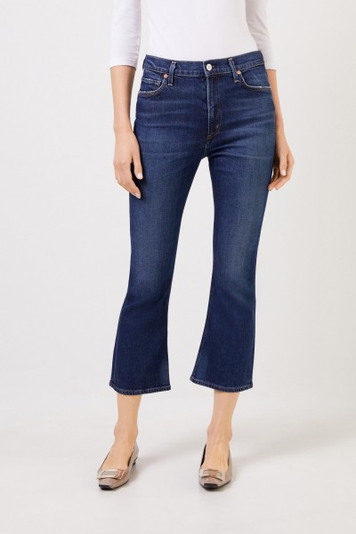 Citizens of Humanity Jeans 'Demi Cropped Flare' Blau