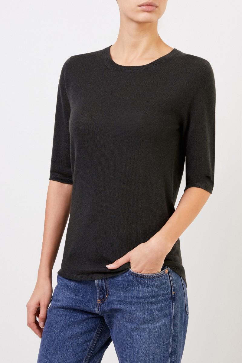 Kurzarm Cashmere-Pullover 'Lyv' Grün