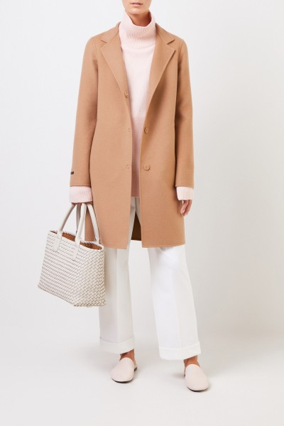 Classic cashmere-wool coat Camel