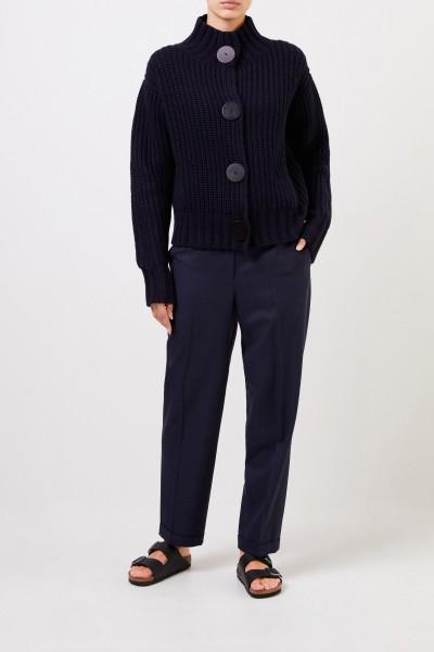 Cashmere-Cardigan mit Hornknöpfen Marineblau
