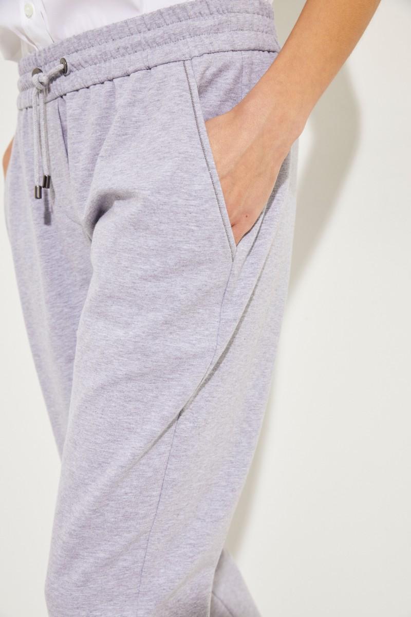 Jogginghose mit Perlenverzierung Grau