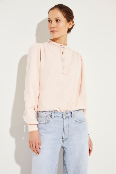 Jeans-Bluse Rosé