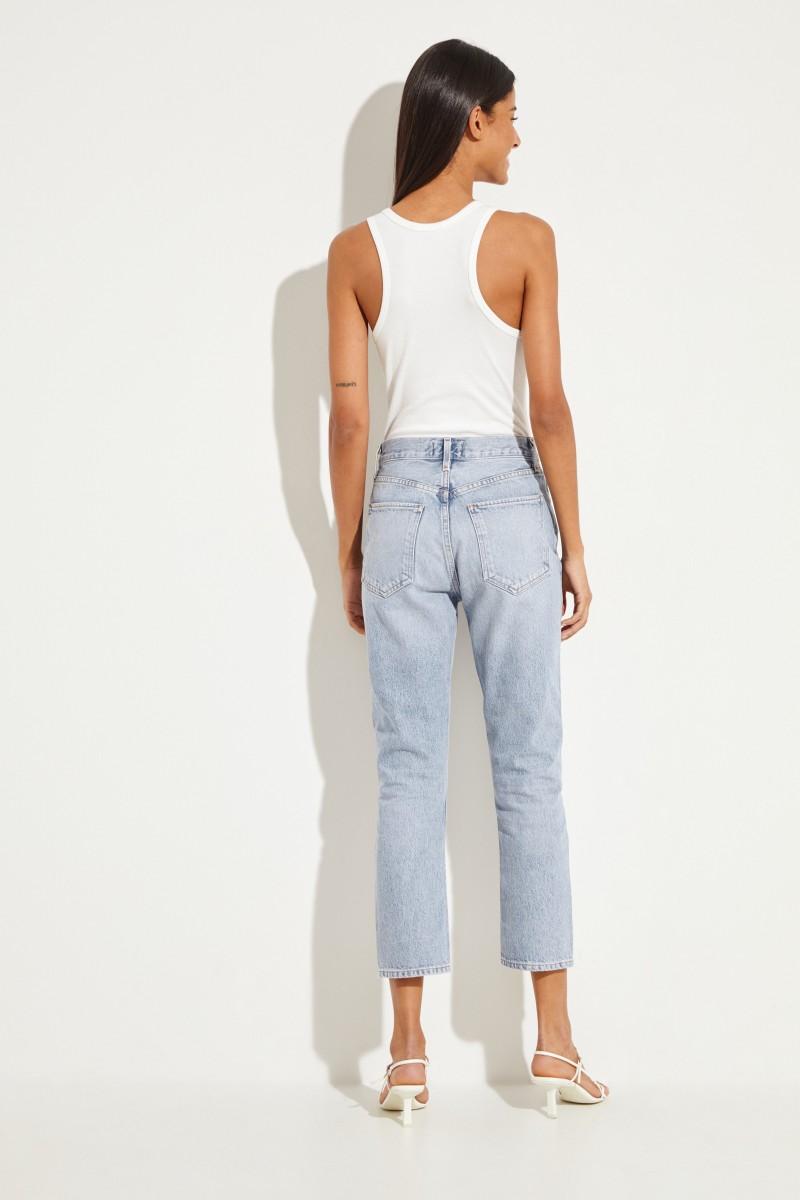 Mid-Waist Jeans 'Riley' Blau
