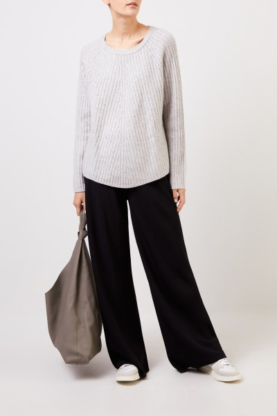 Wool cashmere pullover Light Grey
