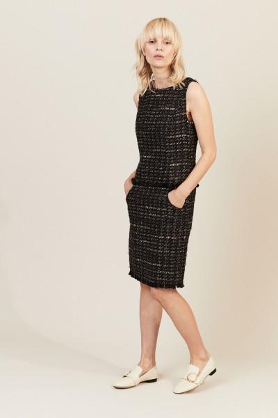 Tweed-Kleid mit Lurexdetails Multi
