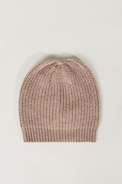 Cashmere-Mütze Taupe
