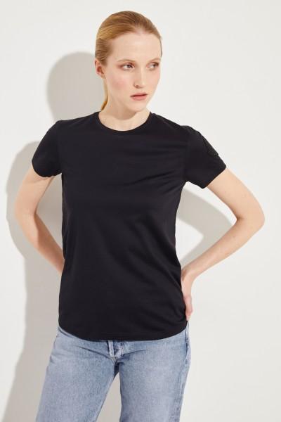 Baumwoll-Shirt mit Logo Schwarz