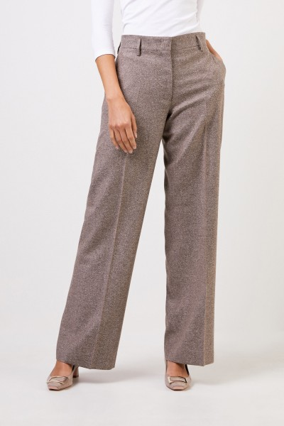 Iris von Arnim Tweed Pants 'Jovell' Natur