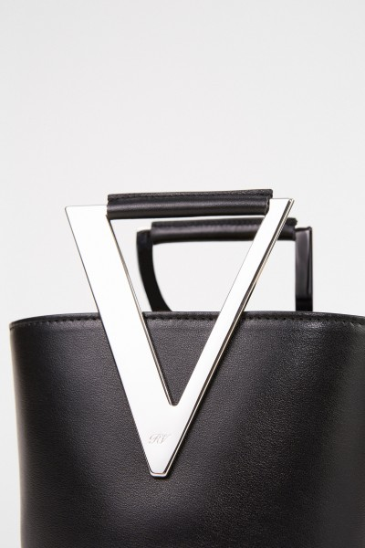 Roger Vivier Bucket Bag 'RV Mini' Schwarz