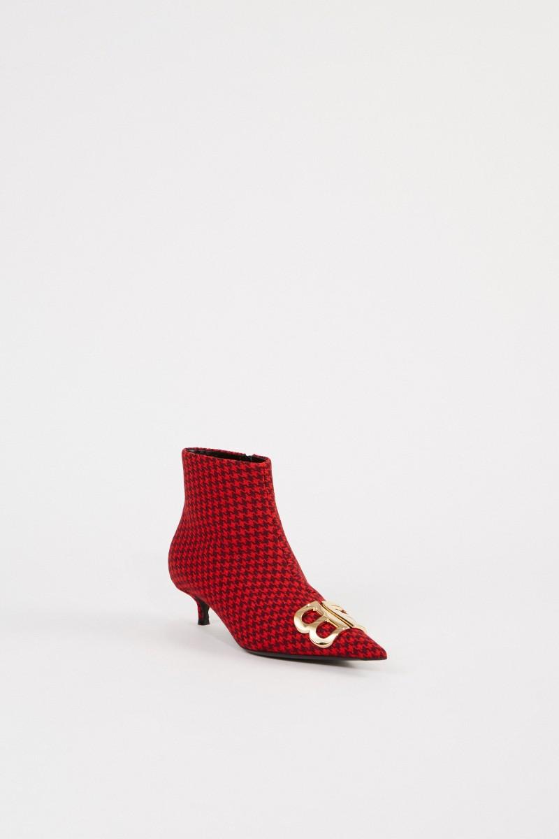 Balenciaga Stiefelette mit Logo Rot/Schwarz