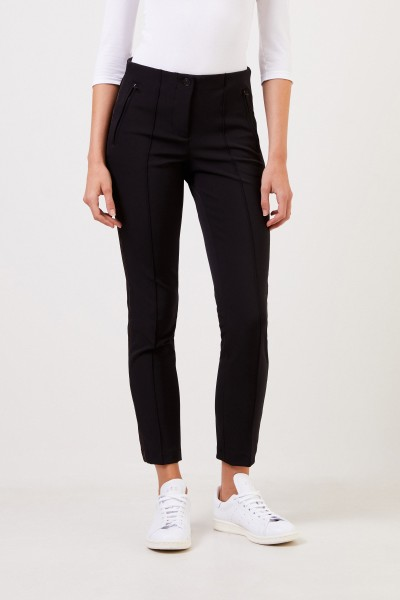 Cambio Trousers 'Ros' with pearl details Black