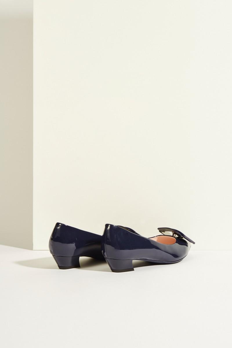 Lackleder-Ballerinas 'Gommettine' Marineblau