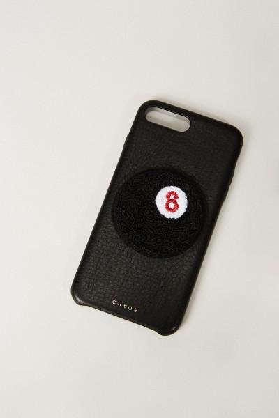 Iphone Case 7/8+ mit rückseitiger Applikation Schwarz