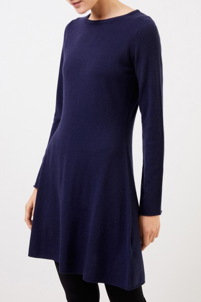 Allude Classic Wool Cashmere Dress Navy Blue