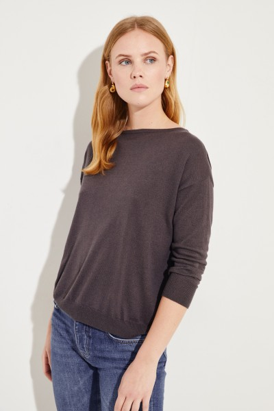 Seiden-Cashmere-Pullover Braun