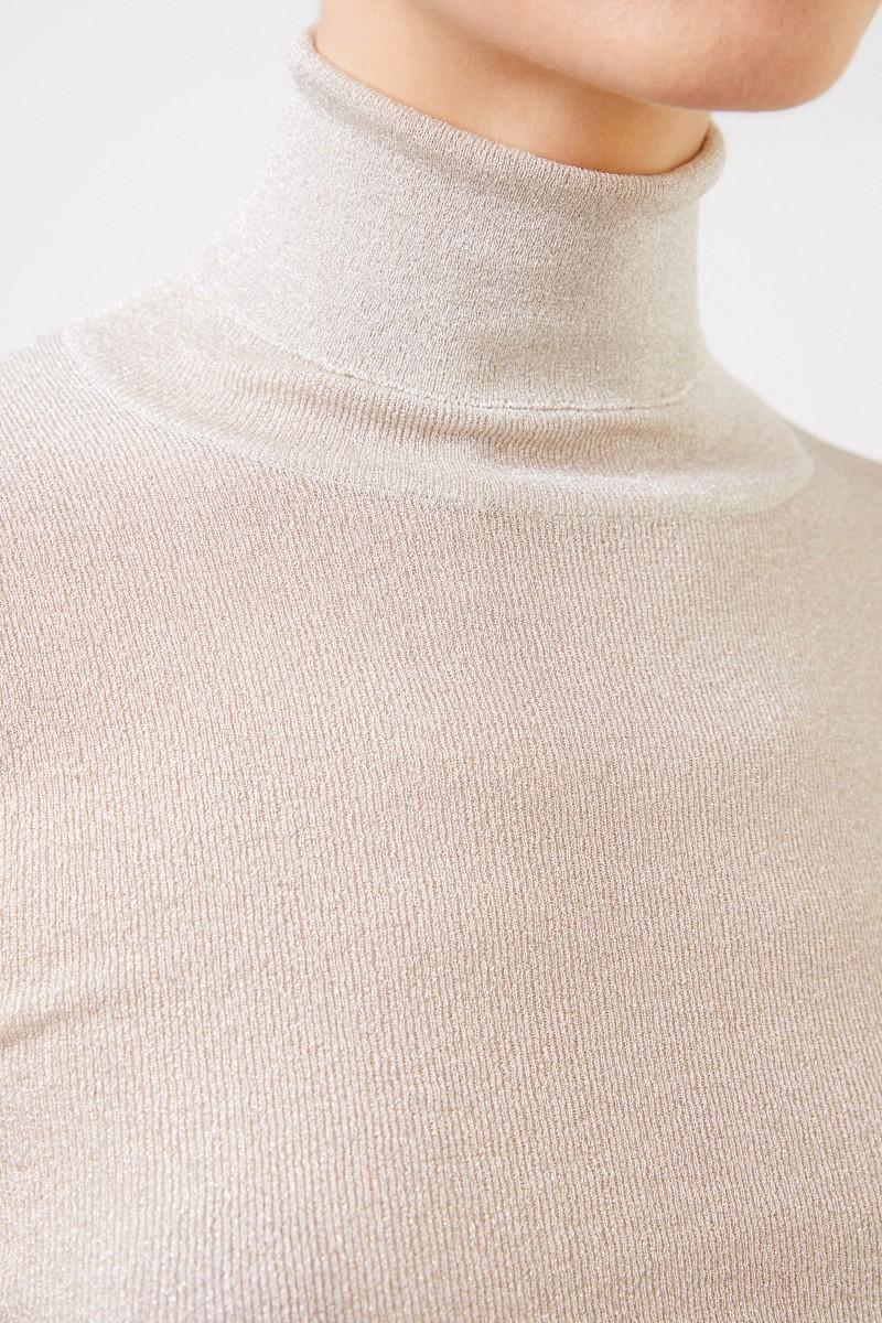 Brunello Cucinelli Rollkragenpullover mit Lurexdetails Silber