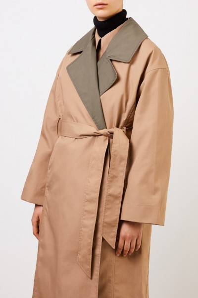 Ganni Classic two-tone trench coat Beige/Khaki