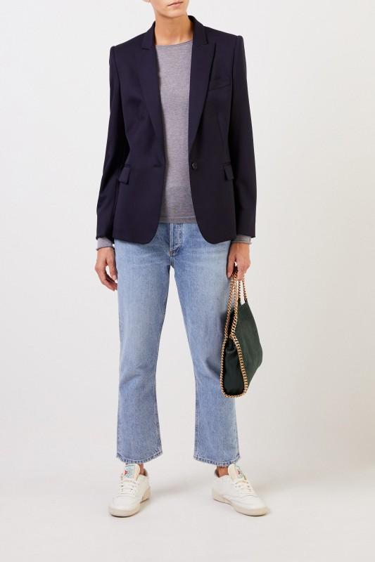 Woll-Blazer 'Iris' Marineblau