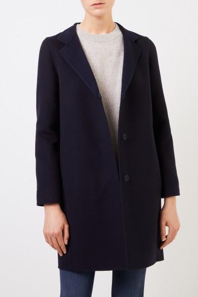 Manzoni 24 Wool-cashmere coat Navy Blue