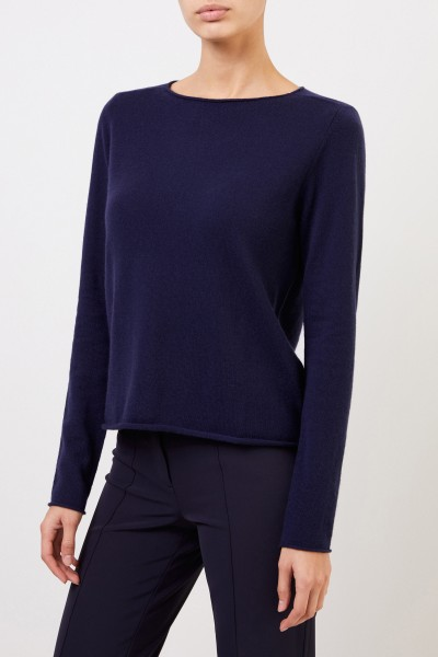 Allude Cashmere-Pullover Marineblau