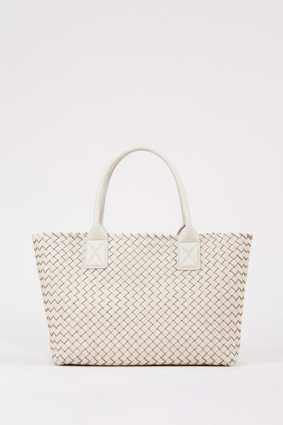 Woven leather shopper 'Dead' Brown