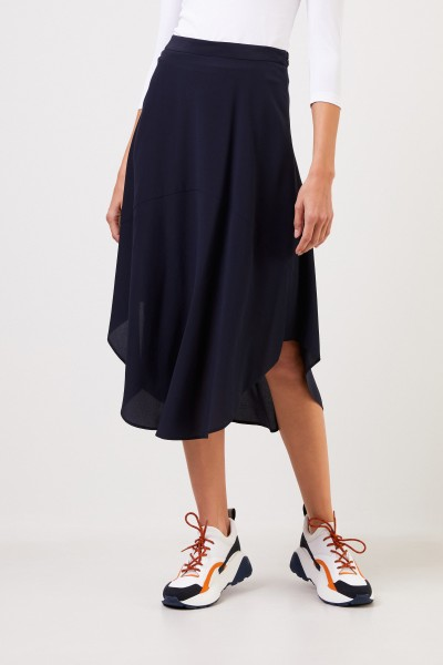 Stella McCartney Silk skirt Navy Blue