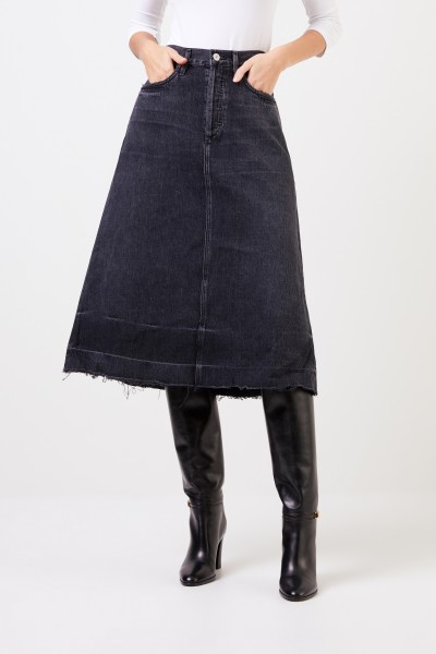Citizens of Humanity Midi denim skirt 'Florence' Black